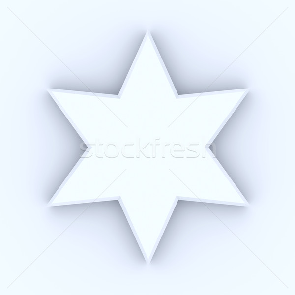 Star 3D reso illustrazione bianco Natale Foto d'archivio © Spectral