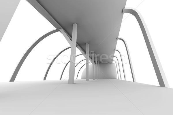 Korytarzu architektury 3D świadczonych ilustracja budynku Zdjęcia stock © Spectral