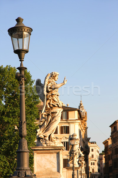 Statues on the Ponte Sant Angelo Stock photo © Spectral