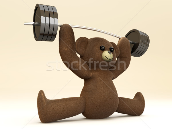 Weightlifting Teddy Stock photo © Spectral