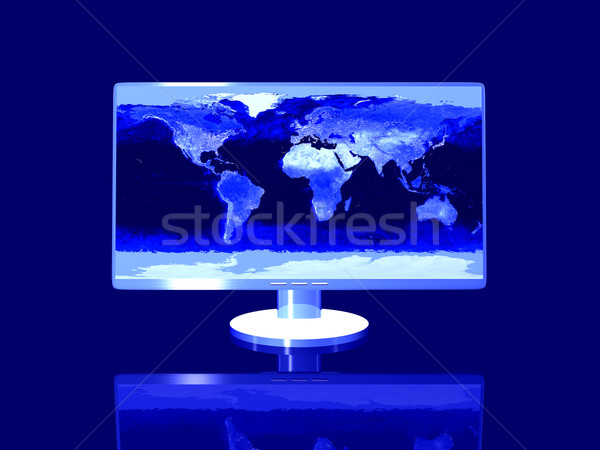 Nightly Earth Desktop Stock photo © Spectral