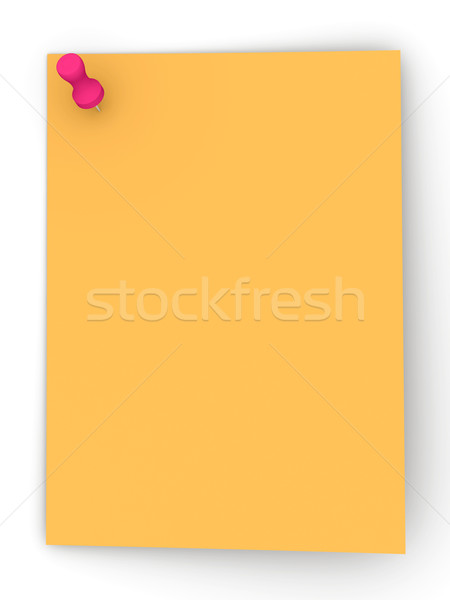 Sticky Note - Red Pin Stock photo © Spectral