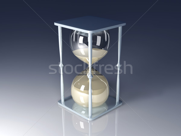Sablier 3d illustration verre temps vitesse stress Photo stock © Spectral