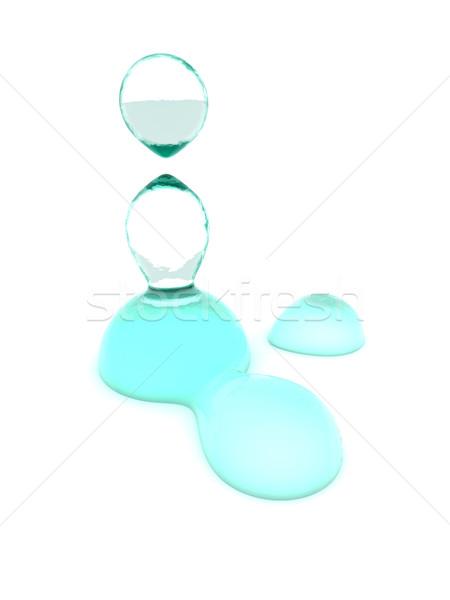 Vízcseppek 3D renderelt izolált fehér víz Stock fotó © Spectral