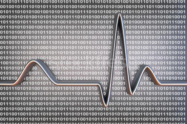 цифровой Код двоичный код линия 3D Сток-фото © Spectral