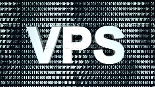Código binario virtual servidor 3D prestados ilustración Foto stock © Spectral