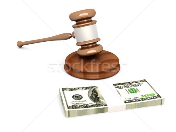 Leilões tribunal martelo 3D prestados ilustração Foto stock © Spectral