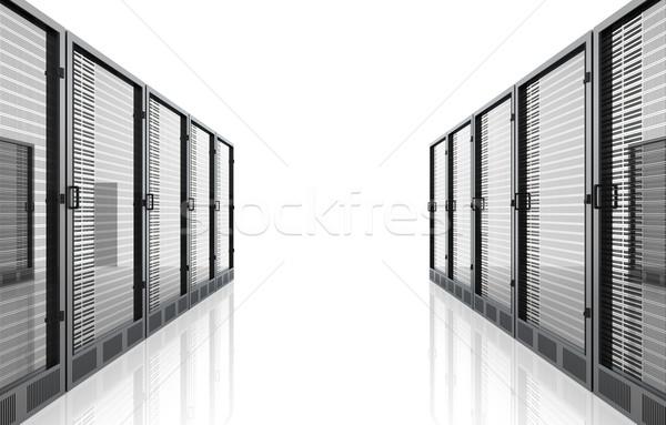 Server kamer 3D gerenderd illustratie geïsoleerd Stockfoto © Spectral