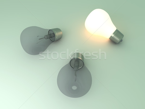 Glowing Light Bulb Stock photo © Spectral