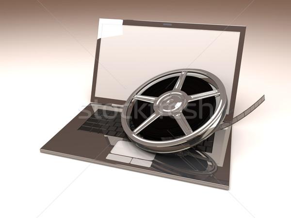 Digitale video 3D gerenderd illustratie film Stockfoto © Spectral