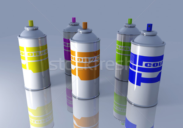 Renk aerosol 3D render örnek boya Stok fotoğraf © Spectral