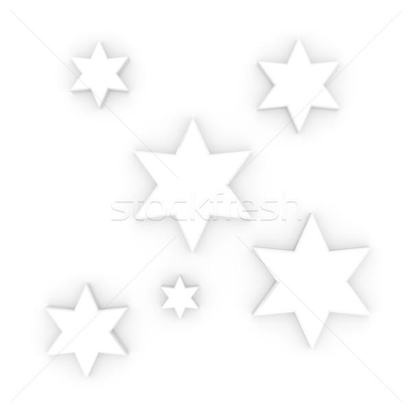 Sterne Dekor 3D gerendert Illustration Weihnachten Stock foto © Spectral