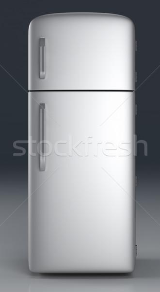 холодильник классический 3D оказанный иллюстрация продовольствие Сток-фото © Spectral