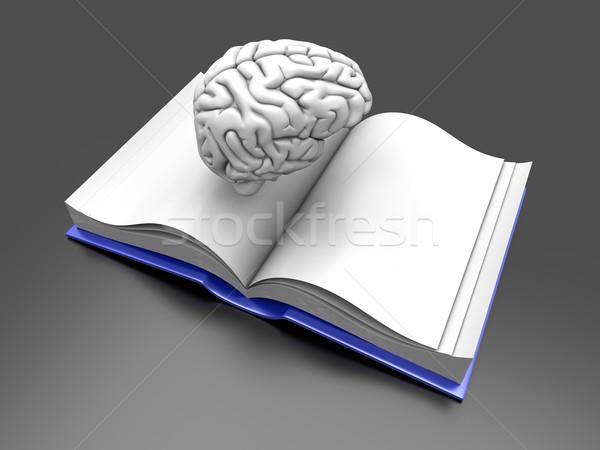 мозг книга психиатрический литература 3D оказанный Сток-фото © Spectral