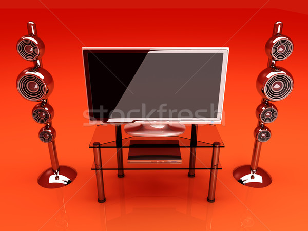 Ev eğlence 3D render örnek film tablo Stok fotoğraf © Spectral