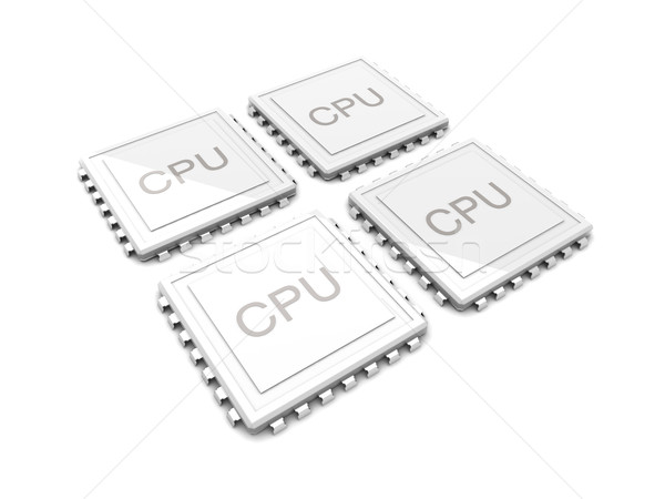 Kern cpu 3D gerendert Illustration zwei Stock foto © Spectral