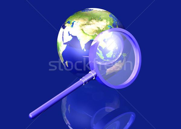 Global búsqueda Asia 3D prestados ilustración Foto stock © Spectral
