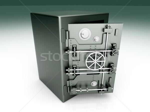 Nyitva agykoponya bank széf 3D renderelt Stock fotó © Spectral