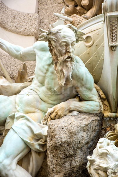 Statue in a fountain in the Hofburg in Vienna	 Stock photo © Spectral