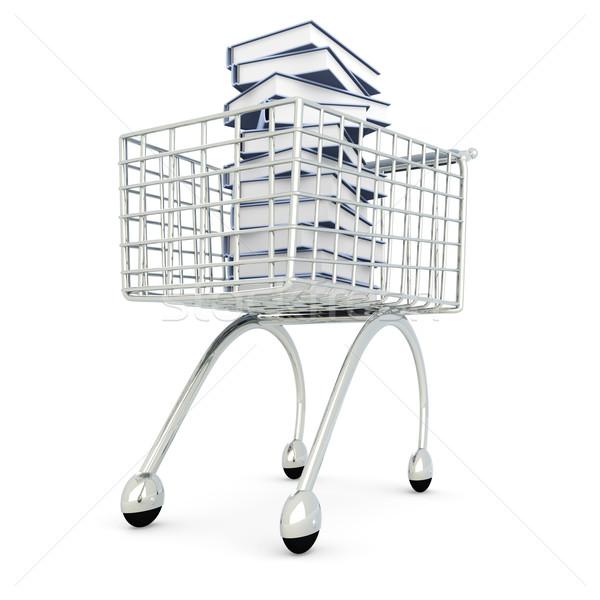 Boek winkelen 3D gerenderd illustratie papier Stockfoto © Spectral