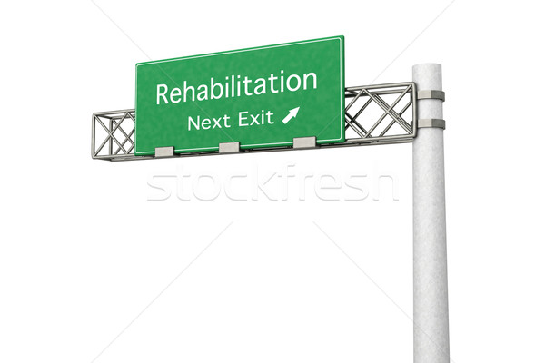 Znak autostrady rehabilitacja 3D świadczonych ilustracja następny Zdjęcia stock © Spectral