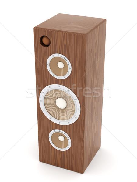 Maun konuşmacı 3d illustration yalıtılmış beyaz ses Stok fotoğraf © Spectral
