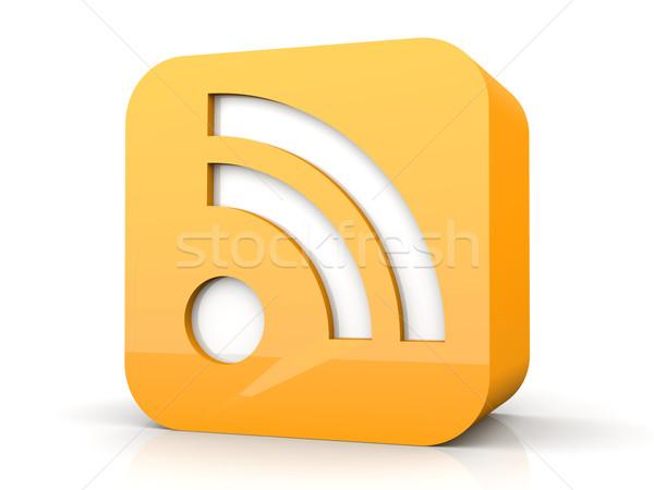 Rss symbol 3D świadczonych ilustracja odizolowany Zdjęcia stock © Spectral