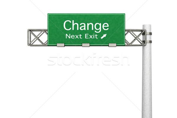 шоссе знак изменений 3D оказанный иллюстрация следующий Сток-фото © Spectral
