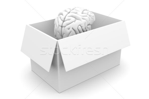 Beyin kutu dışarı 3D render örnek Stok fotoğraf © Spectral