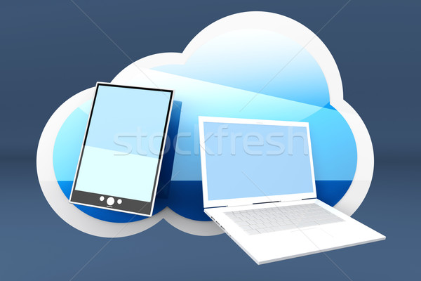 Mobile Cloud Stock photo © Spectral