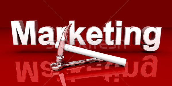 Marketing outils 3D rendu illustration rouge Photo stock © Spectral