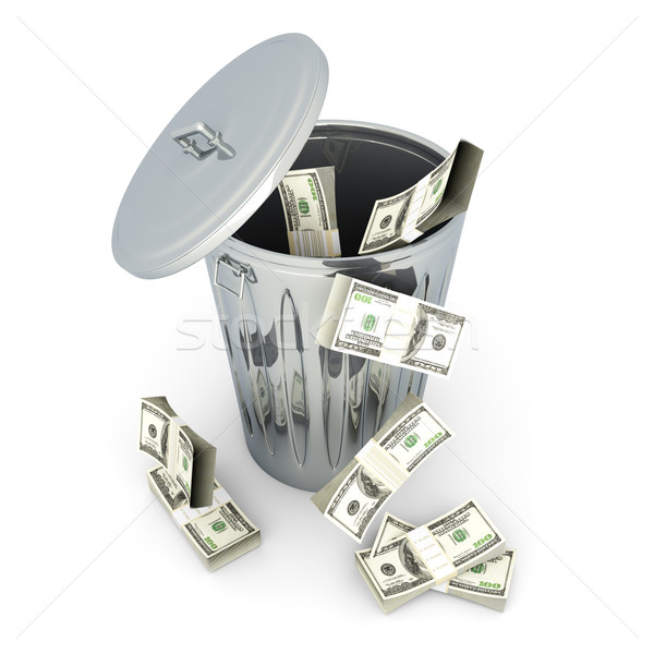 Stock photo: Dollar Trash