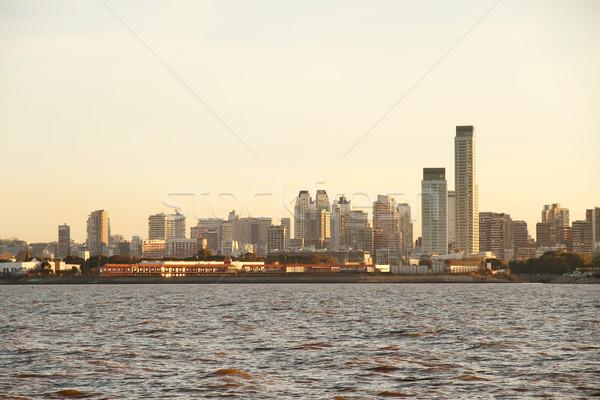 Szennyezés Buenos Aires sziluett Argentína víz ház Stock fotó © Spectral