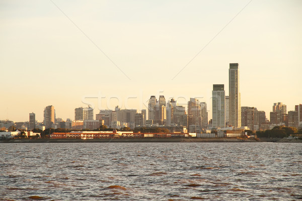 загрязнения Буэнос-Айрес Skyline Аргентина воды дома Сток-фото © Spectral