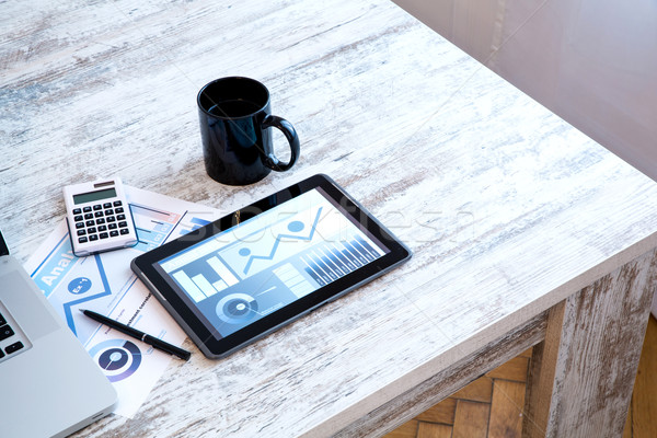 Business Analytics with a Tablet PC and a Laptop Stock photo © Spectral