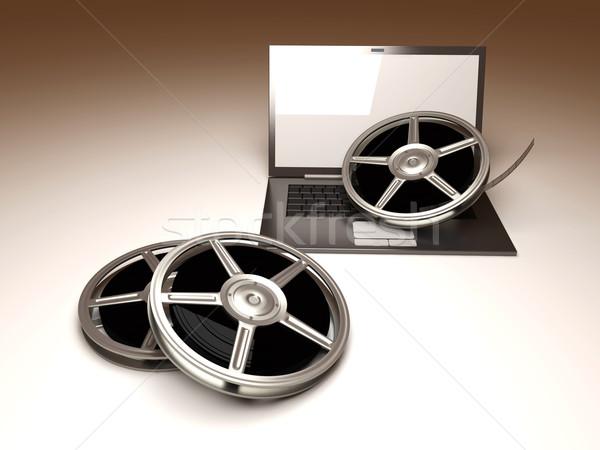 Digital vídeo 3D prestados ilustração filme Foto stock © Spectral