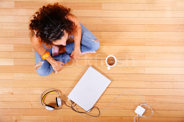 Sitting on the floor Stock photo © Spectral