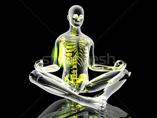 Yoga meditatie pose 3d illustration sport fitness Stockfoto © Spectral