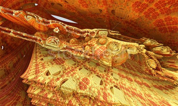 Dorado trono fractal naranja Foto stock © Spectral