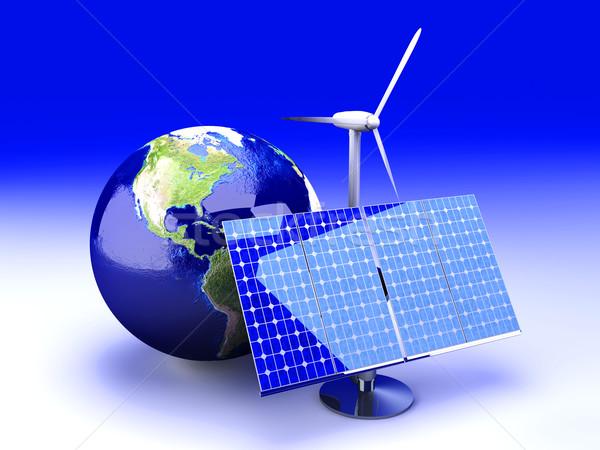 Stockfoto: Alternatief · energie · USA · 3D · gerenderd · illustratie