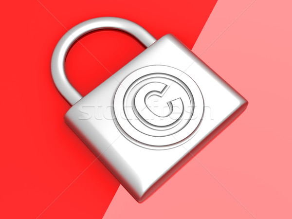Szerzői jog védelem szimbólum 3D renderelt illusztráció Stock fotó © Spectral