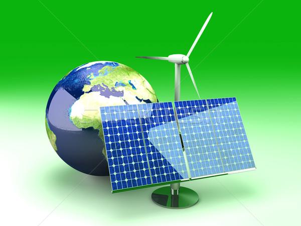 Foto stock: Alternativa · energía · Europa · 3D · prestados · ilustración