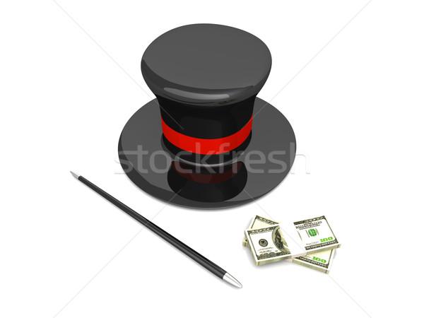 Pénz mágikus 3D renderelt illusztráció izolált Stock fotó © Spectral
