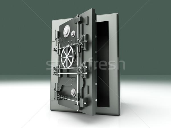 Abierto banco segura 3D prestados Foto stock © Spectral