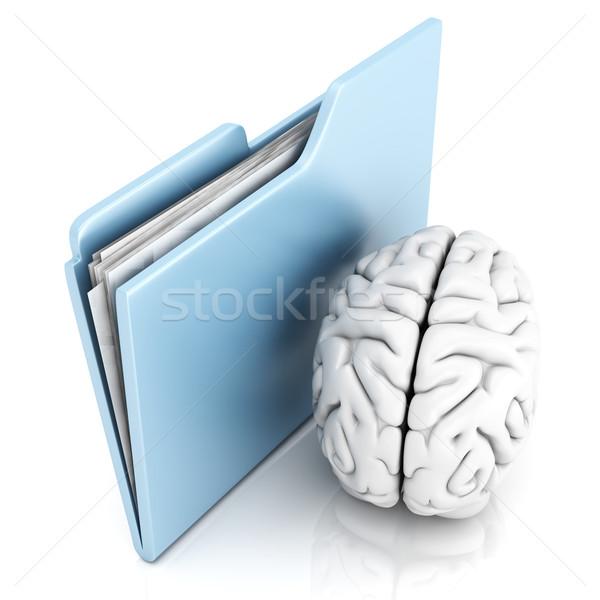 Beyin Klasör 3d illustration iş ofis dizayn Stok fotoğraf © Spectral