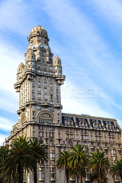 Montevideo ünlü Uruguay gökyüzü Bina şehir Stok fotoğraf © Spectral
