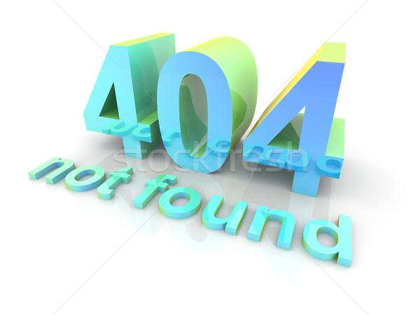 404 3D render örnek yalıtılmış beyaz Stok fotoğraf © Spectral