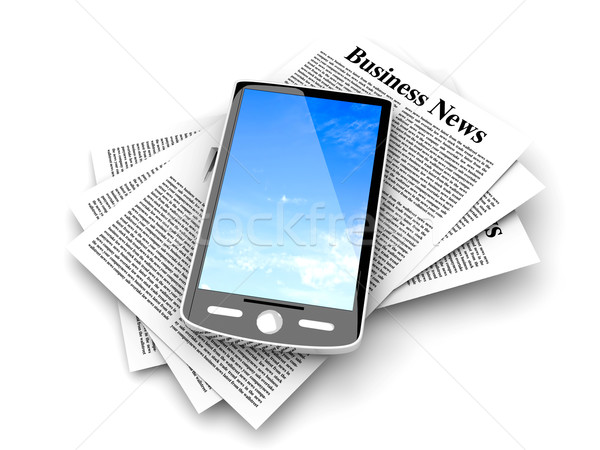 Smartphone in the Business News	 Stock photo © Spectral