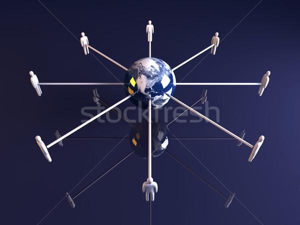 Global Amerika 3D render örnek Stok fotoğraf © Spectral