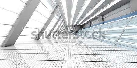 Aéroport architecture 3D rendu illustration construction Photo stock © Spectral